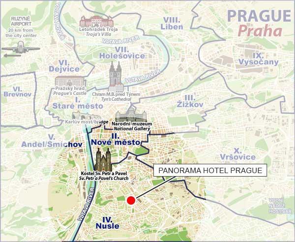 Location panorama hotel prague for Prague location